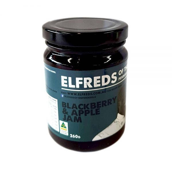 elfreds of the peninsula blackberry and apple jam