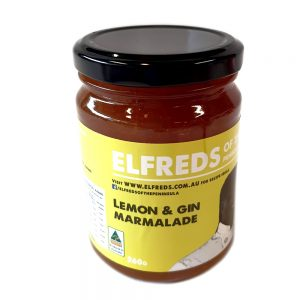 elfreds of the peninsula Lemon and gin Marmalade